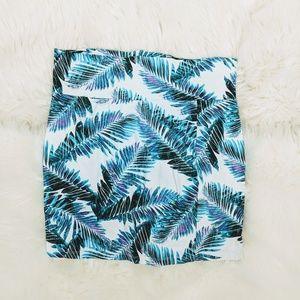 Charlotte Russe Palm Print Bodycon Skirt